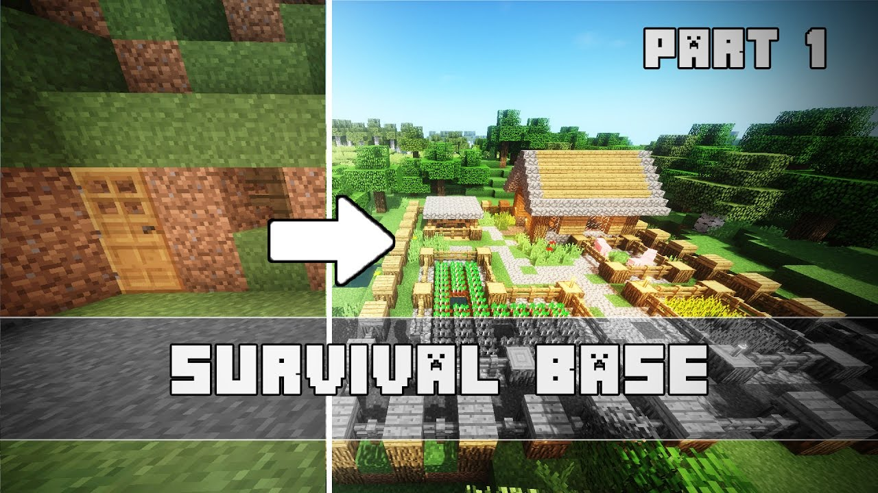 Einfache SURVIVAL Base In Minecraft YouTube - Minecraft haus bauen survival