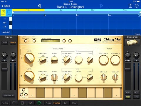 KORG Gadget Lets Compose With The New Chiang Mai Presets for iPad