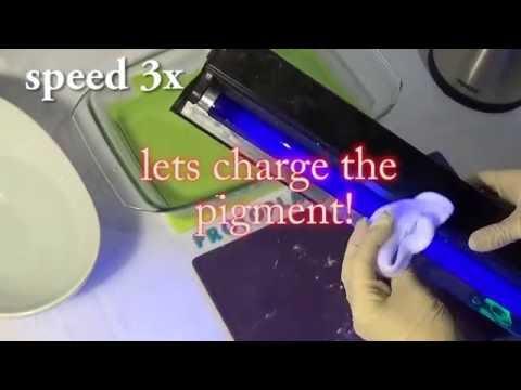 Protoplast blue glow in the dark pigment hervormbaar plastic, diy