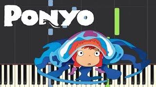 Ponyo's Theme (崖の上のポニョ) - Ponyo on the Cliff by the Sea - (Piano Tutorial)