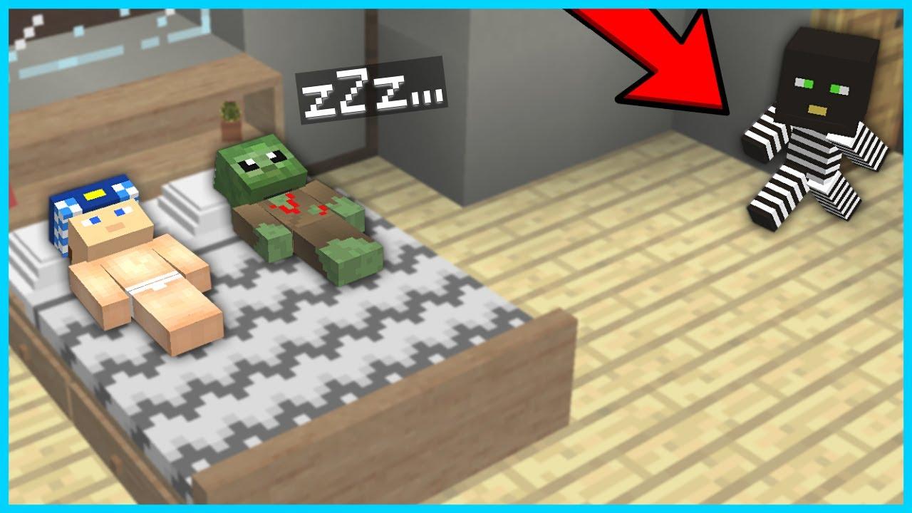 BEBEK HIRSIZ, HERKES UYURKEN EVİ SOYUYOR! 😱 - Minecraft