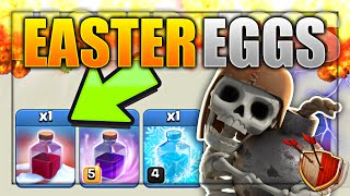 Clash of Clans - *EPIC* HIDDEN 'EASTER EGGS'! ALL SECRET SPECIAL HOLIDAY ITEMS! (CoC Easter Eggs)