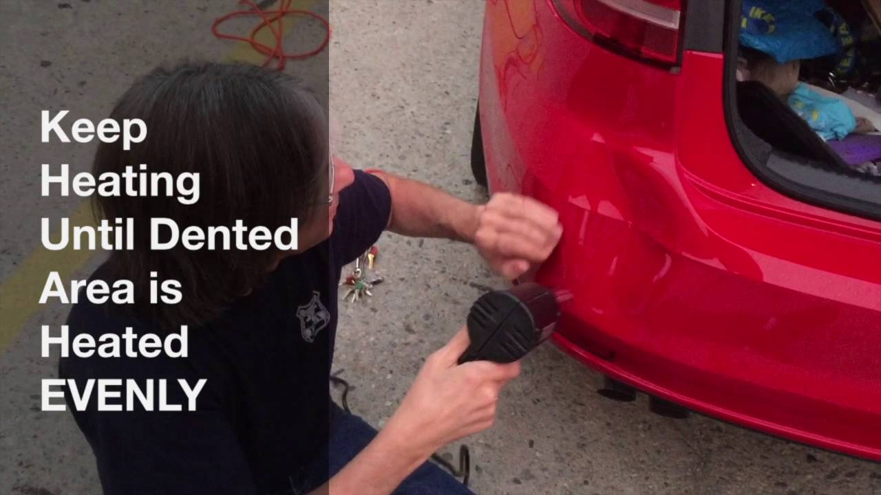 Car Bumper Dent Removal How To Pop Out A Bumper Dent W