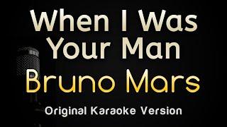 When I Was Your Man - Bruno Mars (Karaoke Songs With Lyrics - Original Key)