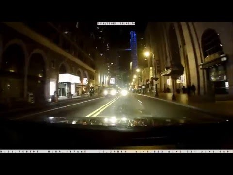 Panorama G Street Guardian SGZC12SG Demo—Peachtree Rd Atlanta at Night