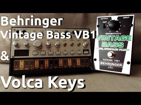 Behringer VIntage Bass VB1 & Volca Bass (Demo)
