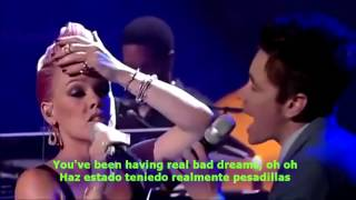 pnk feat nate ruess   just give me a reason lyrics english spanish sub español