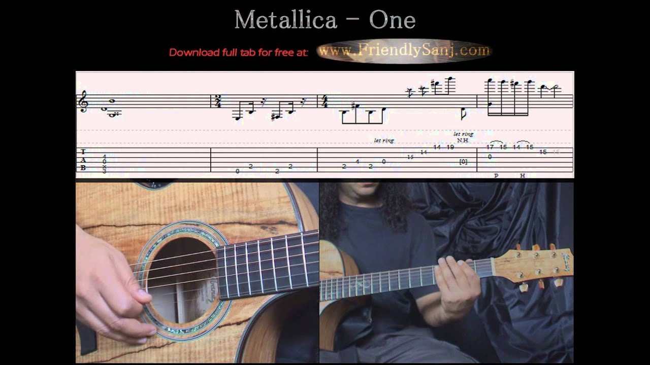 Guitar Tutorial 7 Metallica One Arranged For Solo Guitar