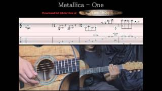 Guitar Tutorial 7 - Metallica - One (arranged for solo guitar) - Full Tab