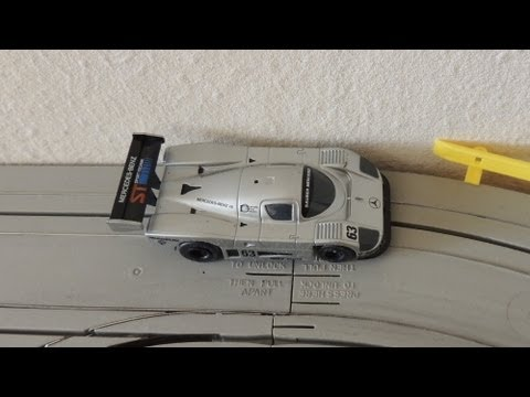 Sauber Mercedes C9-89, Aurora, TOMY, AFX, Slot Car Racing, on Tyco tracks