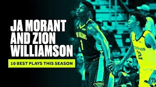 Ja Morant and Zion Williamson's Best Plays This Season | B/R Countdown