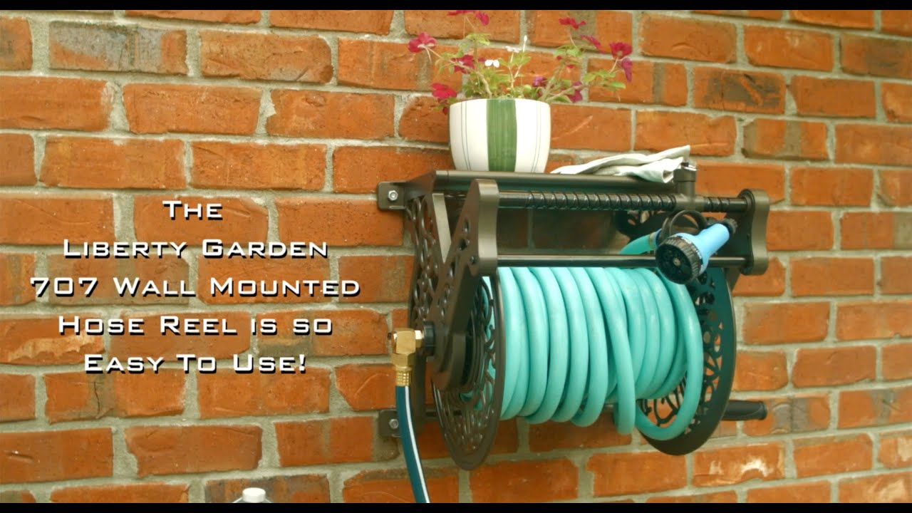 Model 707 Decorative Hose Reel With Hose Guide. Liberty Garden