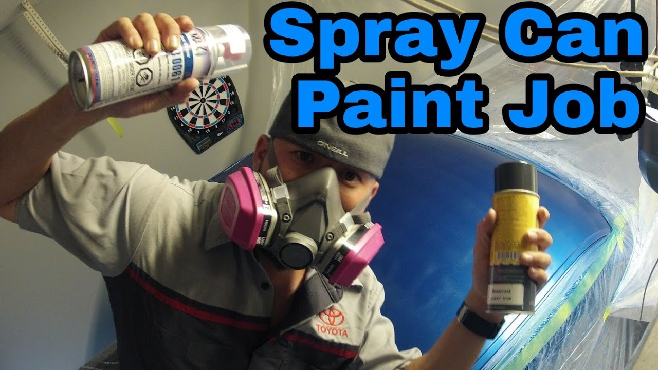 Painting With Spray Cans Spraymax 2k Clear Coat Fix Faded Paint ls /  Flipping A Silverado -Episode 3
