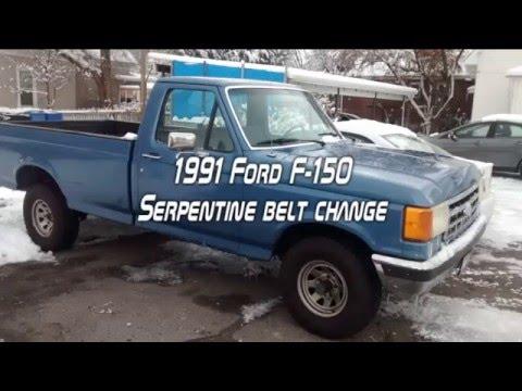 1991 ford f 150 belt change  1990 ford drive belt diagram #15