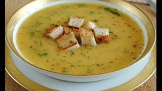Обжор на гороховый суп с сухариками