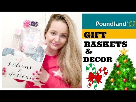 CHRISTMAS POUNDLAND HAUL / DECEMBER / DIY BUDGET GIFT BASKET IDEAS / HOME DECOR / STOCKING FILLERS