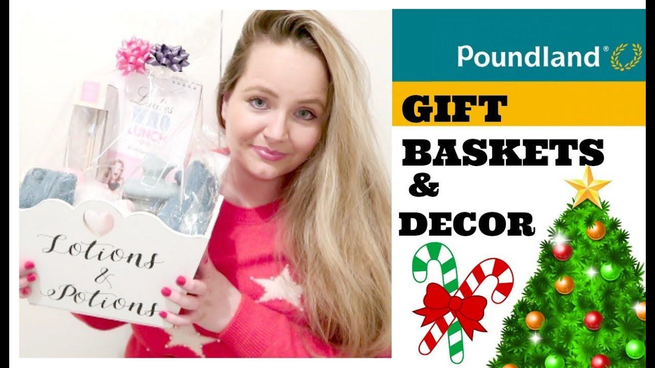 Christmas Poundland Haul December Diy Budget Gift Basket Ideas Home Decor Stocking Fillers