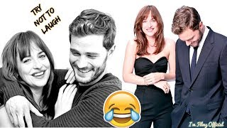 Fifty Shades Freed Bloopers And Funny Moments Part 2 Try Not To Laugh