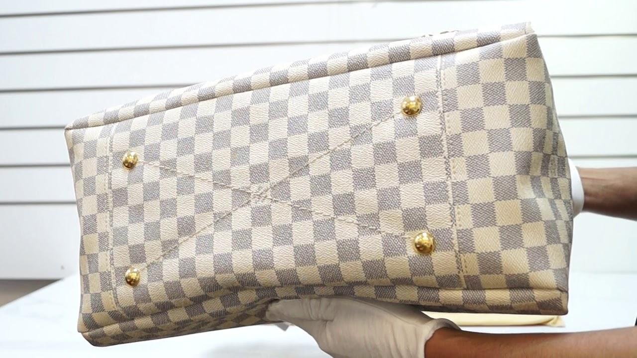 Louis Vuitton Artsy Mm Damier Azur Shoulder Bag White E4872 Youtube