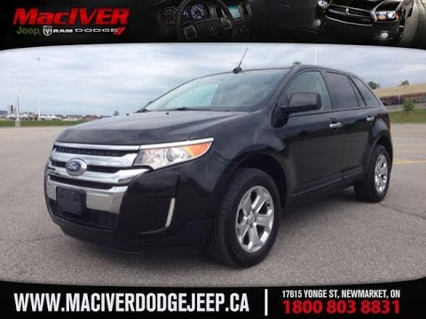 2011 black ford edge sel awd newmarket ontario maciver. Black Bedroom Furniture Sets. Home Design Ideas