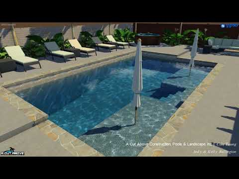 A Cut Above Pools 3D Pool Studio Design - Bullington