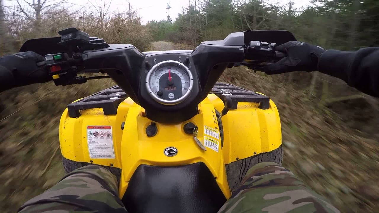 2005 Can Am Outlander 400 GoPro 1080p Trail Riding