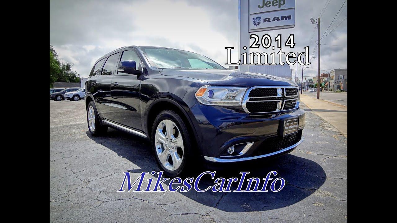 2014 Dodge Durango Limited Youtube