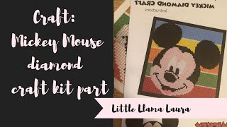 Craft: Mickey Mouse Diamond kit