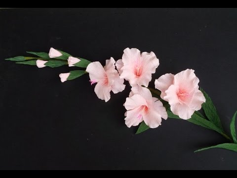 ABC TV   How To Make Gladiolus Flower From Crepe Paper   Craft      abctvcraft  paperflower