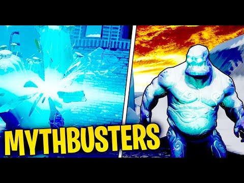 What Happens When An Ice Zombie Walks Into A Rift In Fortnite Battle Royale? | Fortnite Mythbusters