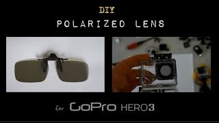 DIY Polarizer Filter for Gopro Hero3 Action/Sport Camera