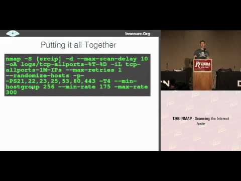 DEFCON 16: Nmap: Scanning the Internet