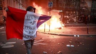 Чеченцы против арабов и африканцев. Погромы продолжаются. Франция/ Chechens against Africans. France