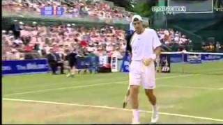 *MUST SEE* - CRAZY - one in a million tennis shot