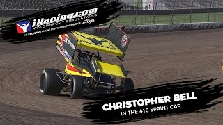 Christopher Bell on iRacing's Dirt: 410 Sprint Car