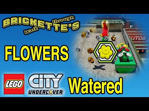 LEGO City Undercover ALL 20 Flowers Watered (Flower Boxes), Squirrel McTavish, SEE DESCRIP For Times