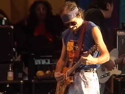 Santana  guitar solo  12 bar blues jam  11261989