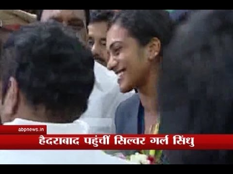 Rio Olympics silver-medalist PV Sindhu arrives at Hyderabad airport