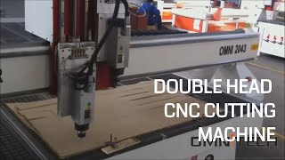 Double Head Cnc Router Cut Plywood