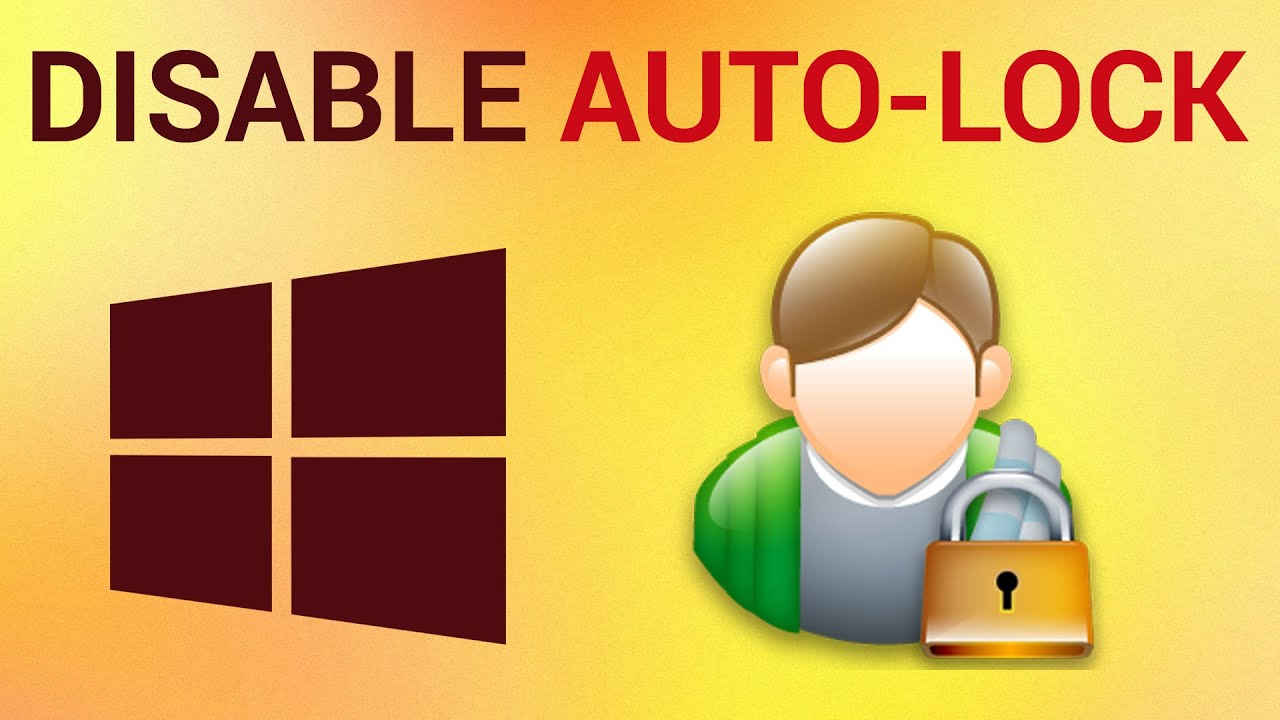 how to remove automatic lock on pc