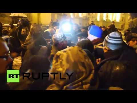 Ukraine: Far-right protesters storm oligarch Rinat Akhmetov's Kiev office