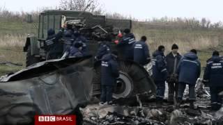 BBCBRASIL - Vídeo inédito mostra momentos após avião ser abatido na Ucrânia 17/11/2014