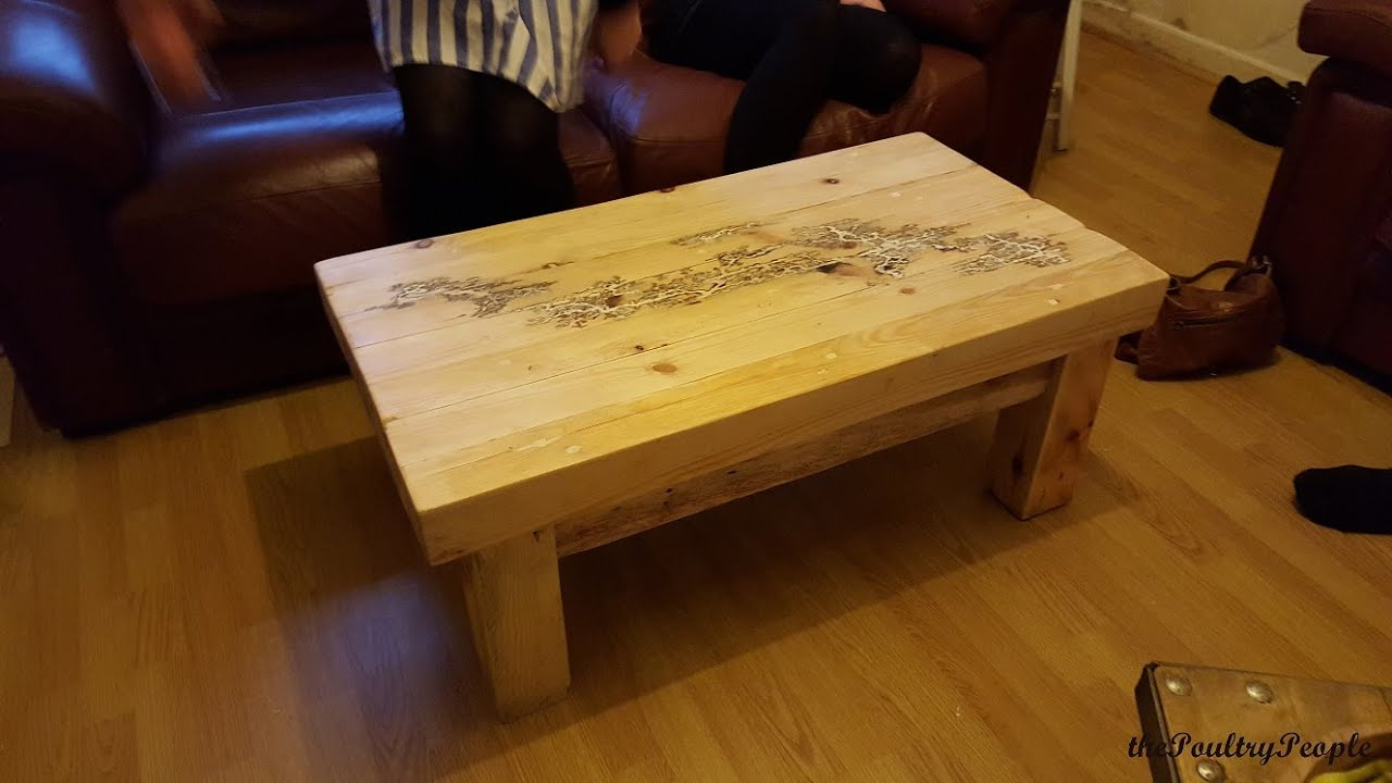 How to make a Coffee Table with Pallets DIY Furniture Project