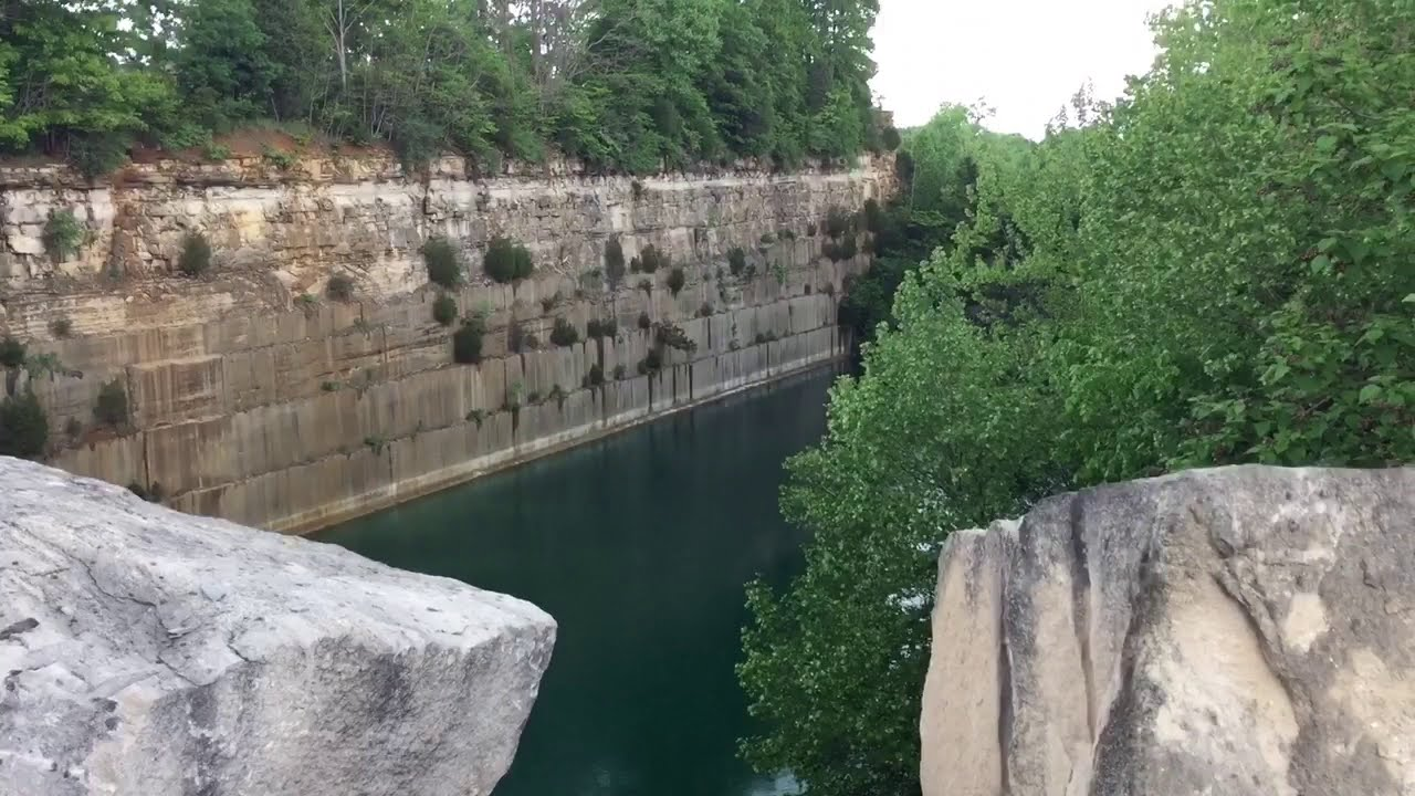 Exploring Empire Quarry in Bedford, Indiana - YouTube