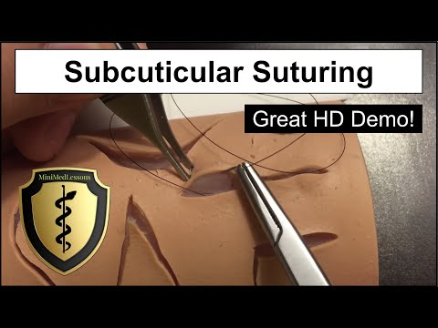 Subcuticular Suture - Step-by-step Instruction In HD!