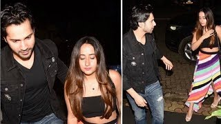 Varun Dhawan With Girlfriend Natasha Dalal At Kriti Sanon Birthday Bash 2018