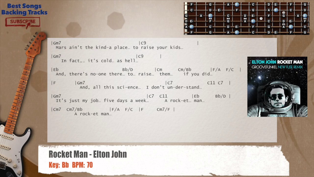 Rocket man elton john guitar backing track with chords and rocket man elton john guitar backing track with chords and lyrics hexwebz Choice Image