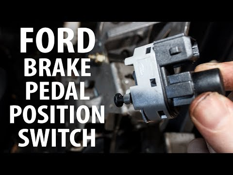 How to: Brake pedal position (stop light) switch/sensor remove, reinstall