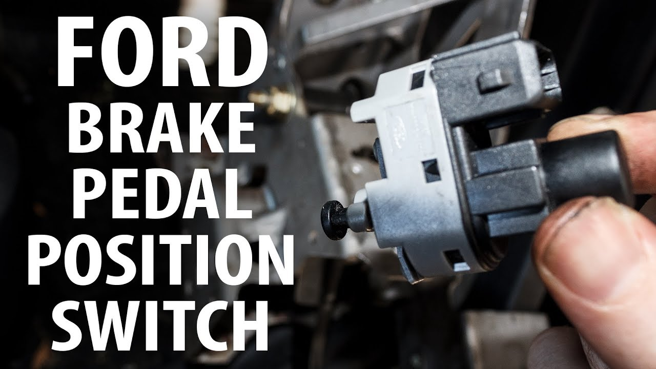 How to: Brake pedal position (stop light) switchsensor remove, reinstall  YouTube