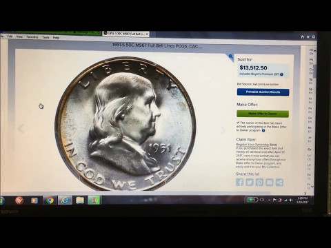 FRANKLIN HALF DOLLAR SELLS FOR $13,512!! FULL BELL LINES WHAT ARE THEY?